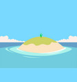 small tiny island in the middle of sea ocean vector image