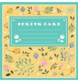 Spring Card on the floral background vector image