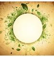 Spring Summer Grunge Vintage Frame vector image vector image