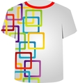 T Shirt Template- colorful blocks vector image