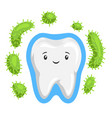tooth is protected from bacteria vector image vector image