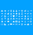 toys icon blue set vector image