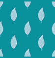 turquoise leaves pattern vector image vector image