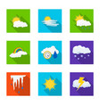 weather and climate sign vector image