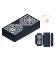 wedding card laser cut template box vector image vector image