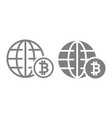 world economy line and glyph icon globe and vector image vector image