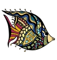 Zentangle Fish vector image