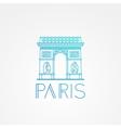 World famous Arc de Triomphe vector image