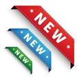 New Corner banner - Crorner ribbon set vector image