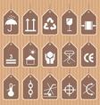 Packing and Shipping Symbols Set vector image