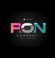 ron r o n three letter logo icon design