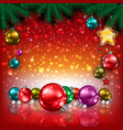 Abstract Christmas red greeting with decorations vector image vector image
