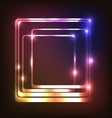 Abstract glowing background with rounded rectangle vector image vector image
