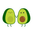 avocado family love couple holding hands mother vector image