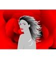 Beautiful vampire woman vector image