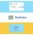 beautiful website logo and business card vertical vector image vector image