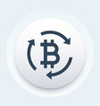 bitcoin exchange button vector image vector image