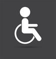 black disabled icon vector image vector image