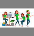 business woman character young female in vector image vector image