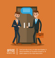 business workers in office vector image