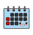 calendar event symbol cute kawaii cartoon vector image vector image