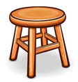 cartoon wooden stool isolated vector image vector image