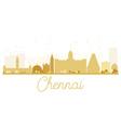 Chennai City skyline golden silhouette vector image vector image