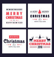 christmas card with simple typographic vector image vector image