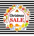 Christmas SALE Poster banner with stickers vector image vector image