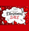 christmas sale template e-commerce online shop vector image vector image