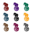 circus elephant icon in black style isolated on vector image