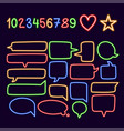 collection colorful neon speech bubbles with vector image vector image