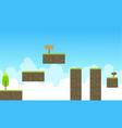 collection stock sky landscape game backrgound vector image vector image