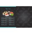 Color horisontal sushi menu vector image vector image