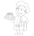 cook with cake contour vector image