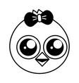 cute chick female cartoon vector image vector image