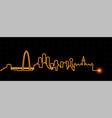dallas light streak skyline vector image