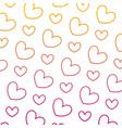 degraded line beauty heart love symbol background vector image vector image