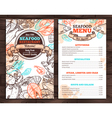 Design Of Seafood Menu In Sketch Style vector image vector image