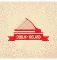 dublin ireland detailed silhouette vector image vector image