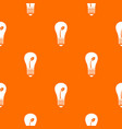 ecology idea bulb with plant pattern seamless vector image vector image