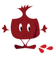 emoji a nutritious sweet and sour red juicy vector image vector image