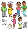 Family - set 2 vector image vector image