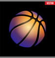 fantasy symbol basketball ball vector image vector image