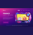 financial management system concept landing page vector image vector image