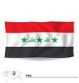 Flag of Iraq vector image vector image