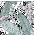 floral seamless leaves pattern with plants vector image vector image