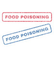 food poisoning textile stamps vector image vector image