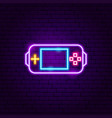 gamer console neon sign vector image