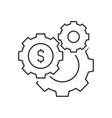 gears with dollar sign vector image vector image